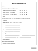 New Business Application Form