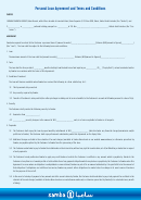 Personal Loan Agreement And Terms And Conditions