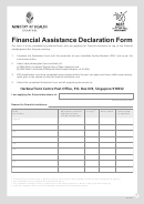 Msf Financial Assistance Declaration Form
