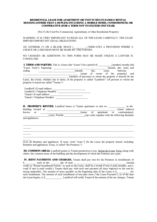 top apartment rental agreement templates free to download