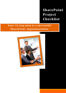 Sharepoint Project Checklist