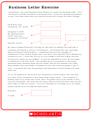 Business Letter Exercise