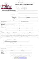 Astra Limousines Business Credit Application Form