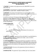 Memorandum Of Understanding/agreement Between The (recipient A) And The (recipient B)
