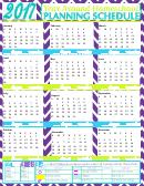 2017 Year Around Homeschool Planning Schedule Template