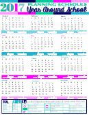 2017 Year Around School Planning Schedule Template