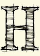 Letter H Template