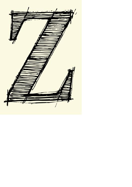 Letter Z Template