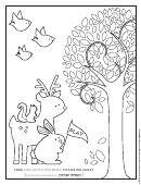 Adorable Fall Coloring Sheets