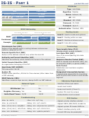 Is-is Cheat Sheet