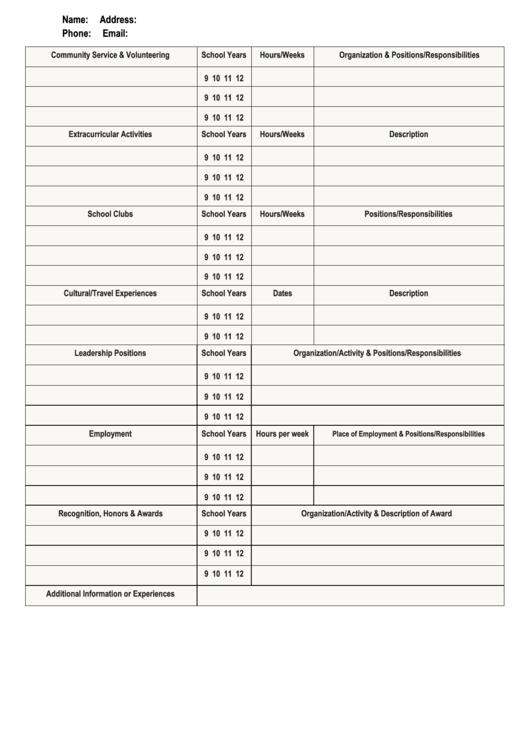 Community Service And Volunteering Timesheet Template Printable pdf