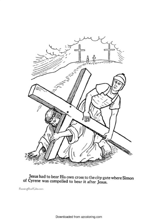 Christian Easter Coloring Sheet