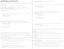 Openmp Reference Sheet For C C Plus Plus