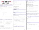 Scala Cheat Sheet V.0.1