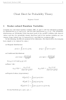 Cheat Sheet For Probability Theory