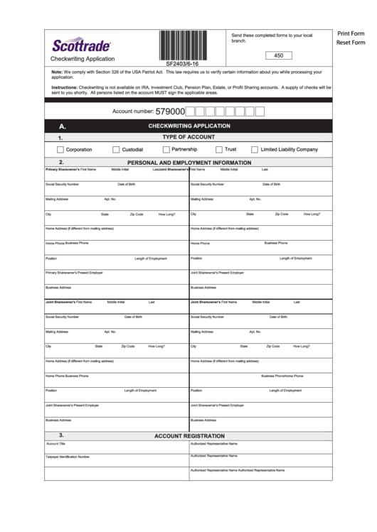 Scottrade option trading form