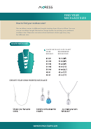 Moress Necklace Size Chart