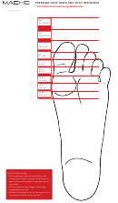 Macho Martial Arts Sparring Gear Hand And Foot Reference Chart