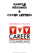 Sample Resumes & Cover Letters