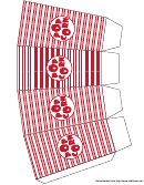 Red Stripes Popcorn Box Template