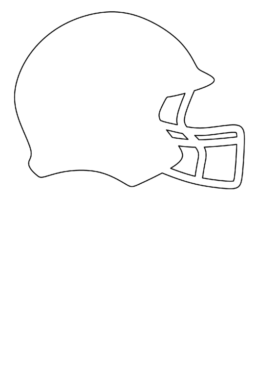 Football Helmet Template