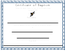 Certificate Of Baptism Template - Wave Blue Border