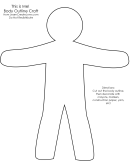 Body Outline Craft Template