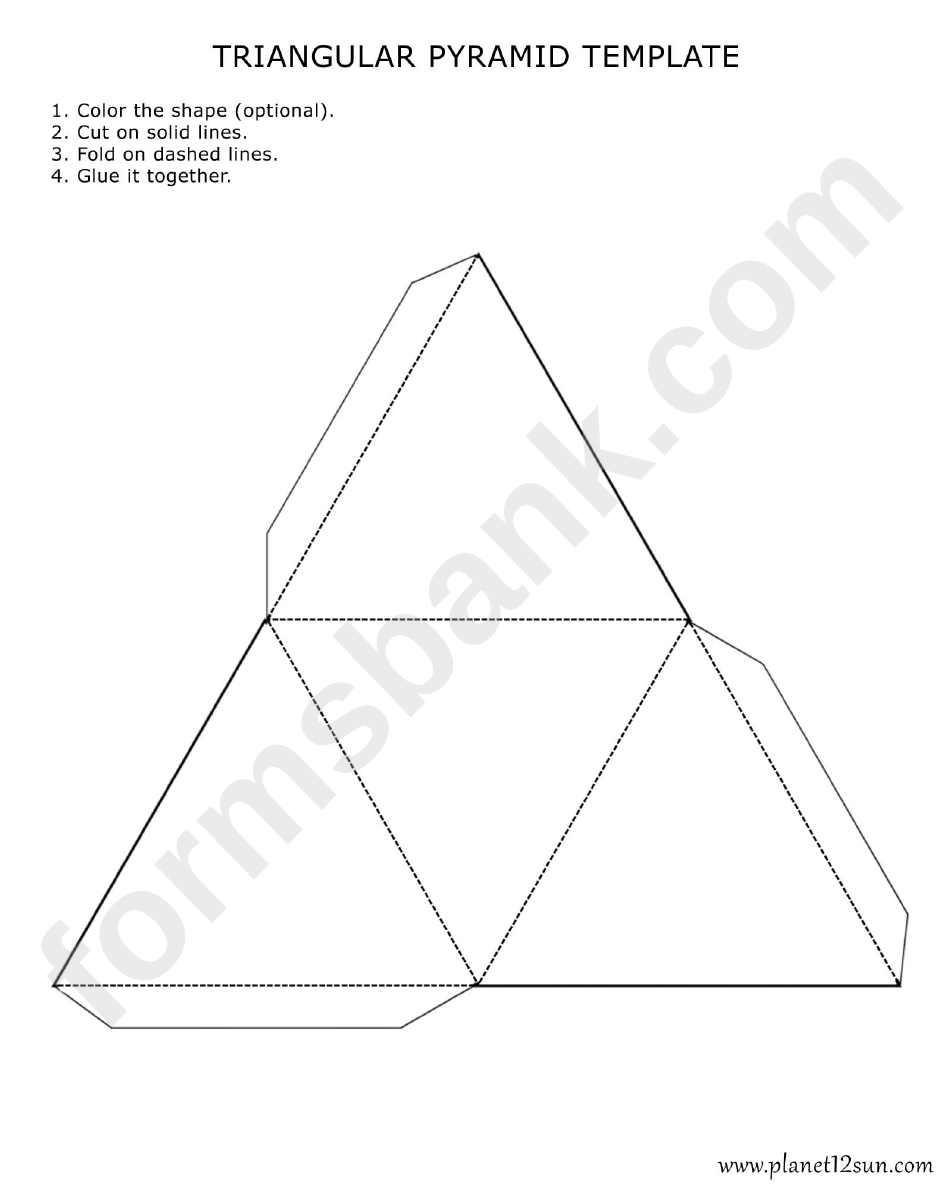 triangular pyramid template printable pdf download