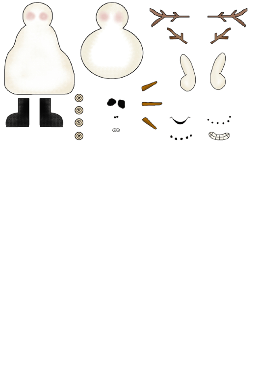 Snowman Cut-out Template