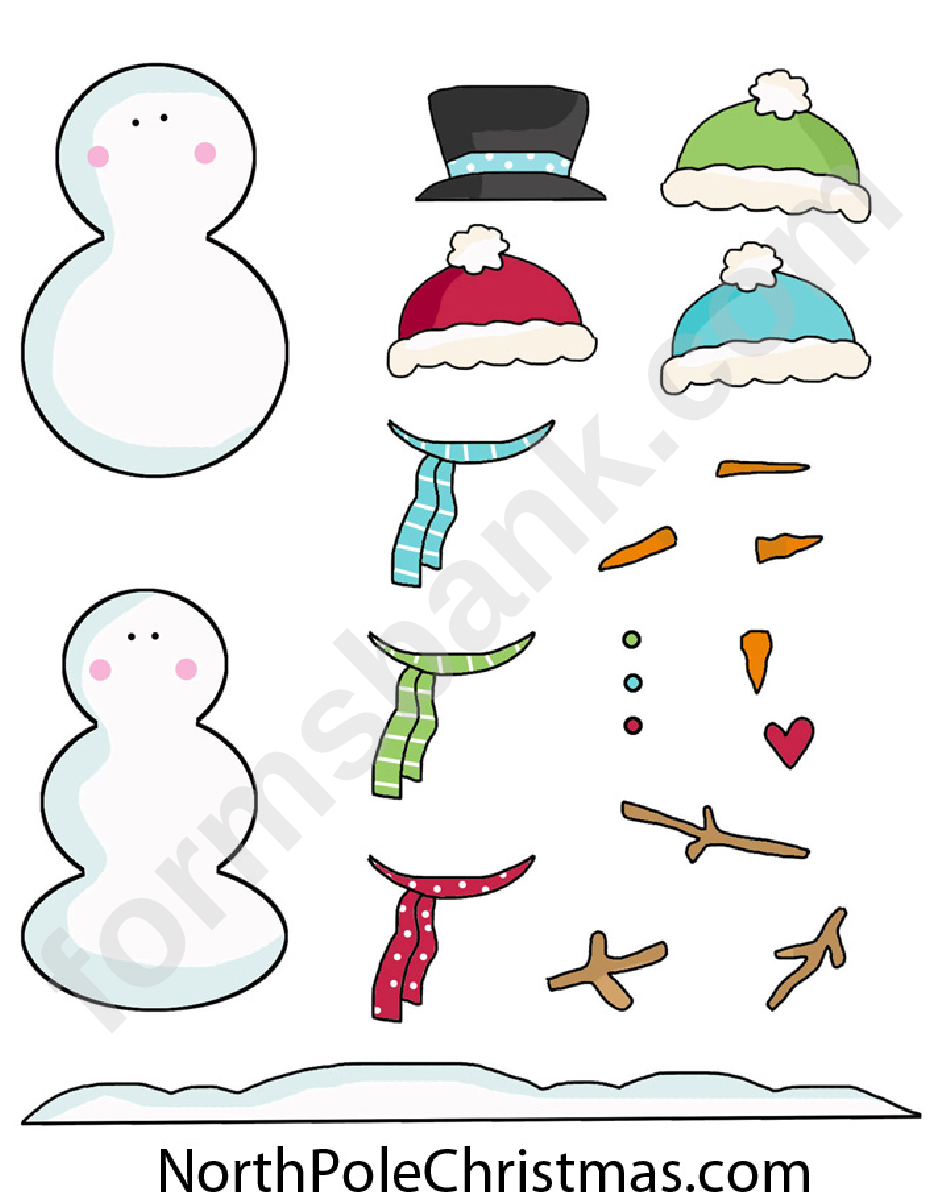 photograph relating to Build a Snowman Printable identify Create-Your-Snowman Template printable pdf obtain