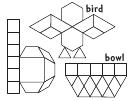 Bird And Bowl Pattern Templates