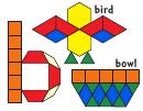 Bird, Bowl Pattern Block Templates