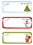 Holiday Gift Coupon Template