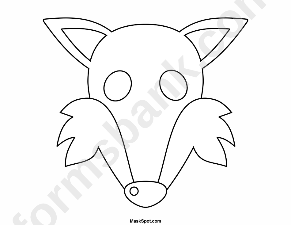 photograph relating to Fox Mask Printable named Fox Mask Template In direction of Colour printable pdf obtain