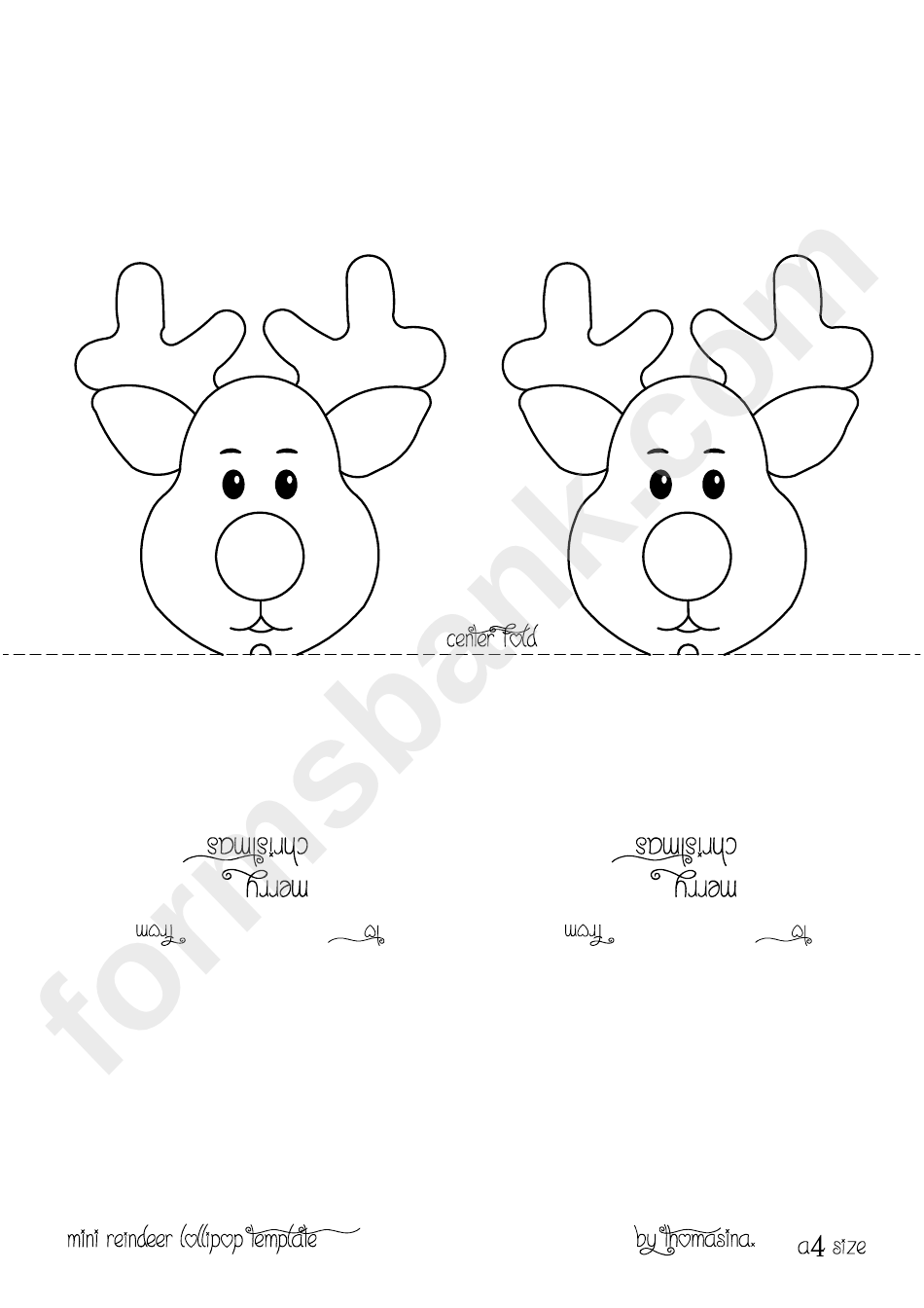 coloring pages reindeer mini - photo#21