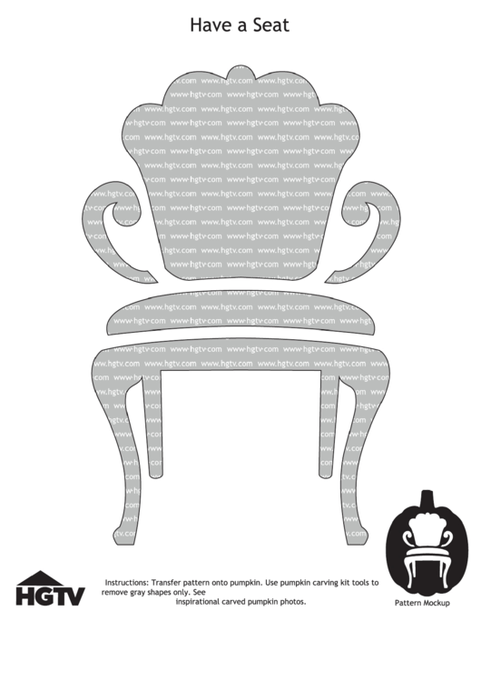Have A Seat Pumpkin Carving Templates Printable pdf