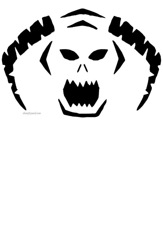 Pumpkin Carving Template Printable pdf