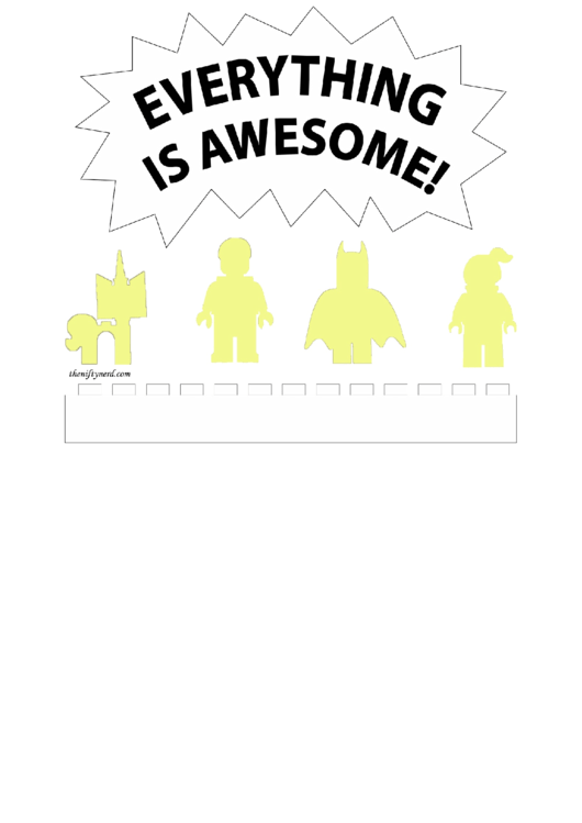 Pumpkin Carving Template Everything Is Awesome Printable pdf