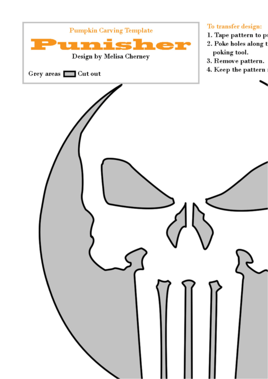 punisher pumpkin carving template printable pdf download
