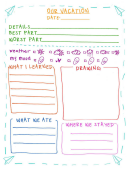 Vacation Journal Entry Template
