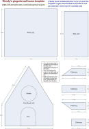 Wendy's Gingerbread House Template