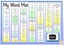 Words List Template: My Word Mat