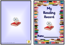 My Reading Record Template - Blue