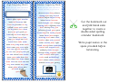 Bookmark Template - Turquoise Background