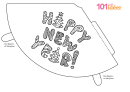 Happy New Year Party Hat Template