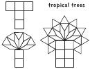 T - Tropical Trees (b/w)