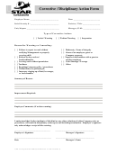 disciplinary action form printable pdf download