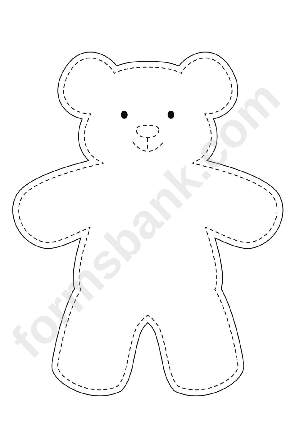 photo relating to Teddy Bear Template Printable named Teddy Undertake Template printable pdf down load