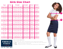 French Toast Girls Size Chart