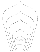 Large Flower Petals Template - Spear-shaped A4